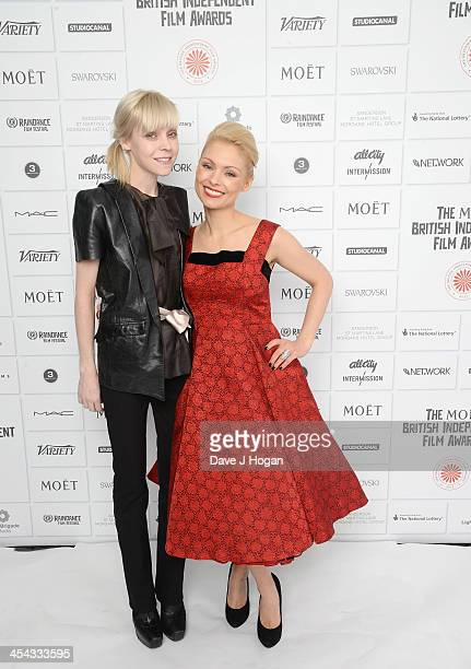 Antonia Campbell Hughes and MyAnna Buring attend the Moet British Independent Film Awards 2013 at Old Billingsgate Market on December 8 2013 in...