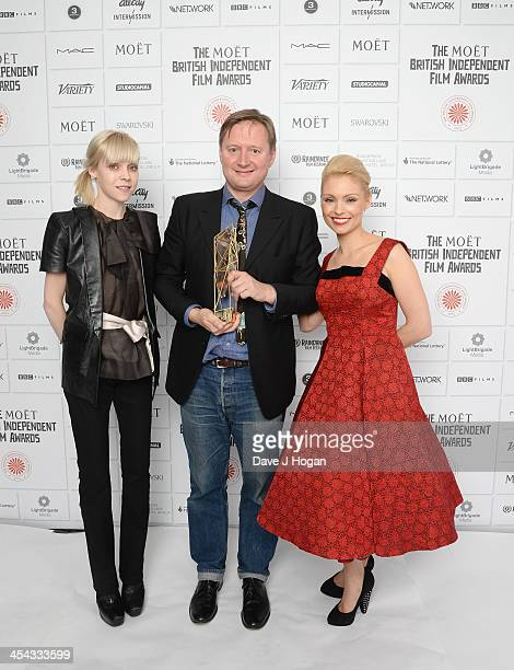 Antonia Campbell Hughes David Mackenzie Winner of the Best Supporting Actor and MyAnna Buring attend the Moet British Independent Film Awards 2013 at...