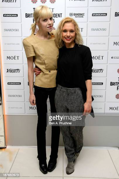 Antonia CampbellHughes and MyAnna Buring attends as the nominations for the British Independent Film Awards are announced at St Martin's Lane Hotel...