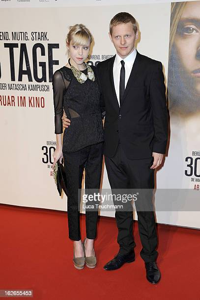 Antonia CampbellHughes and Thure Lindhardt attend the '3096 Tage' World Premiere at Cineplexx Wienerberg on February 25 2013 in Vienna Austria