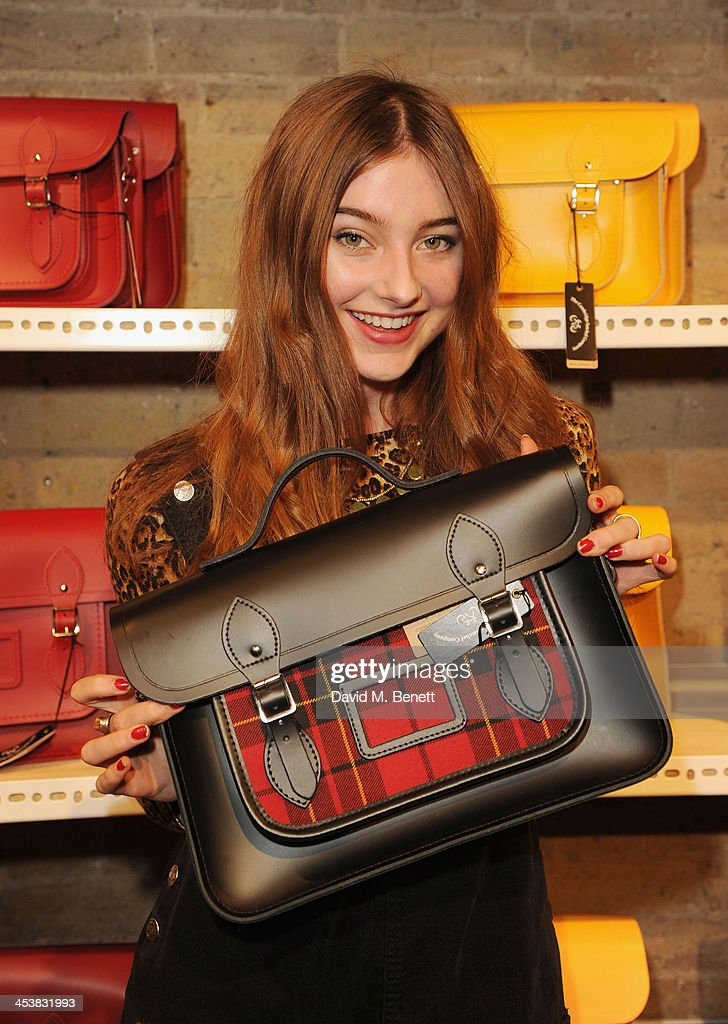 Antonia Clarke attends The Cambridge Satchel Company launch of their East London pop up store on December 5, 2013 in London, England.