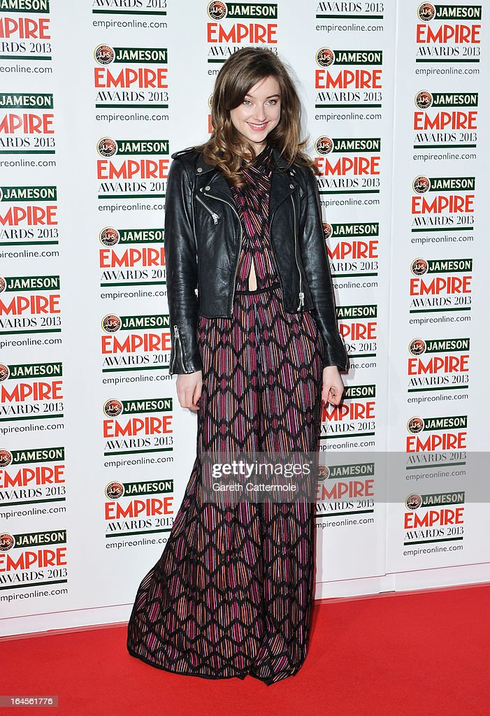 Antonia Clarke is pictured arriving at the Jameson Empire Awards at Grosvenor House on March 24, 2013 in London, England.