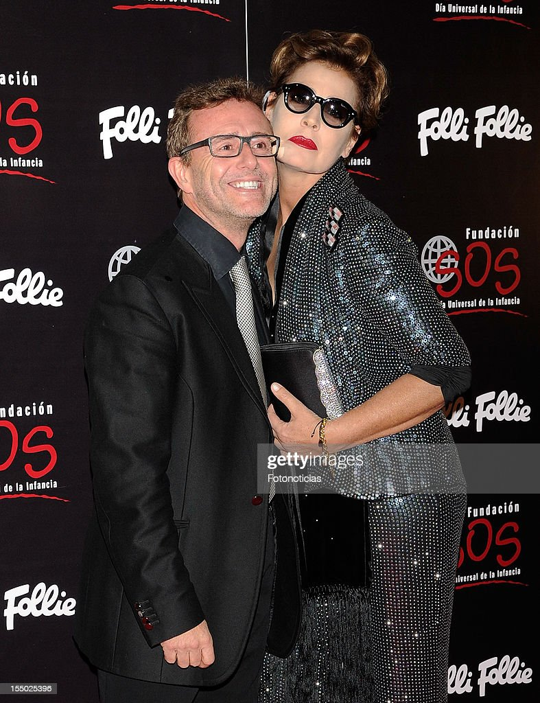 Antonia Dell'Atte (R) and guest attend the 'Folli Follie' campaign launch at the Casino de Madrid on October 30, 2012 in Madrid, Spain.