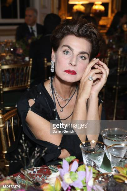 Antonia Dell'Atte attends Giampiero Bodino's 'Beauty Is My Favourite Colour' cocktails and dinner evening at Spencer House on October 11 2017 in...