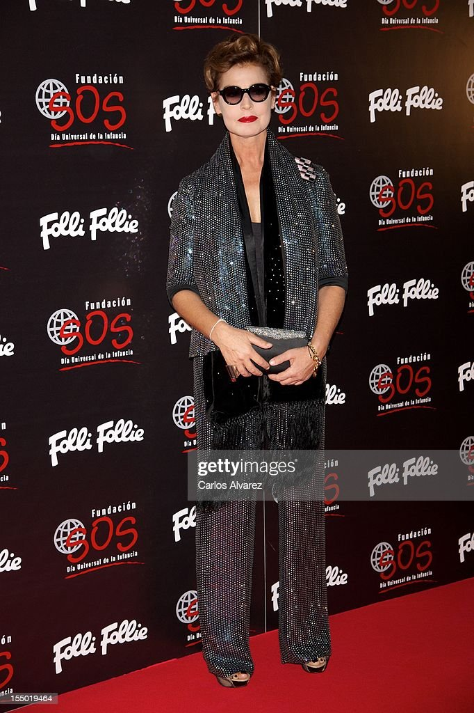 Antonia Dell'Atte attends the 'Folli Follie' campaing launch at Casino de Madrid on October 30, 2012 in Madrid, Spain.