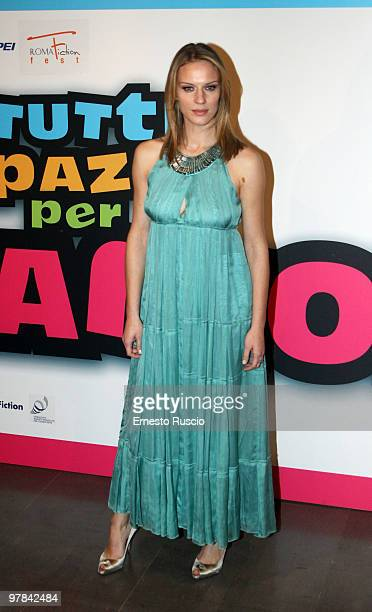Antonia Liskova attends the 'Tutti Pazzi Per Amore 2' premiere at Warner Moderno on March 18 2010 in Rome Italy