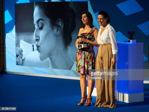 Antonia Martin madre de Carolina Marin and Olga Ruiz attends Arts Sciences and Sports Telva Awards 2017 at Palau de Les Arts Reina Sofia on July 12...