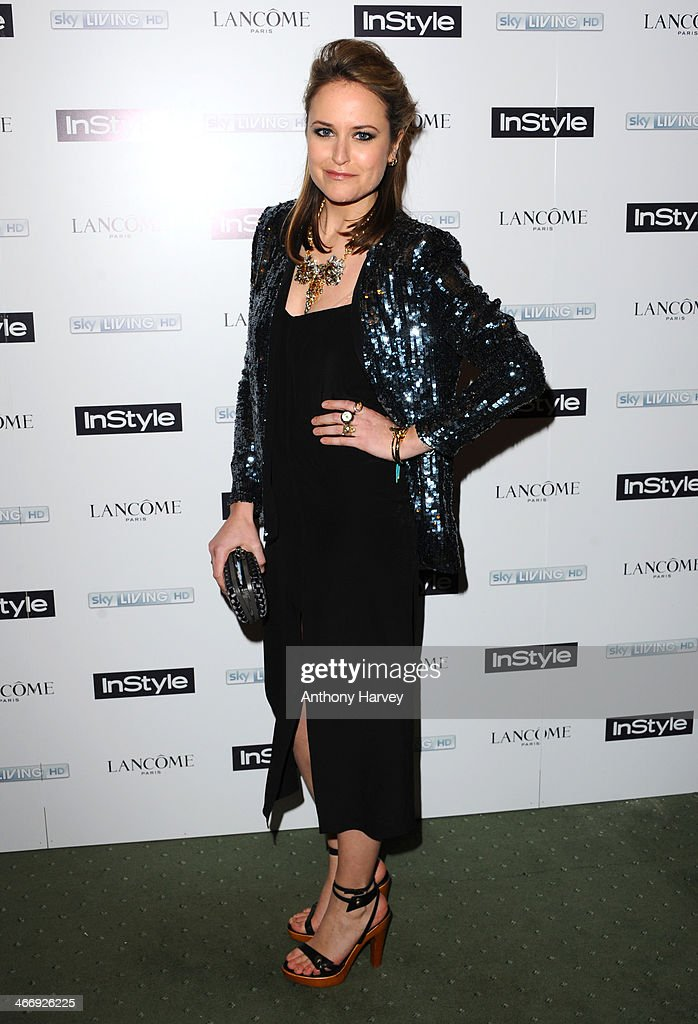 Antonia O'Brien attends InStyle magazine's The Best of British Talent pre-BAFTA party at Dartmouth House on February 4, 2014 in London, England.