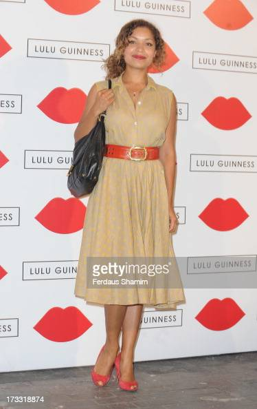 Antonia Rose Thomas attends the Lulu Guinness Paint Project party at Old Sorting Office on July 11 2013 in London England