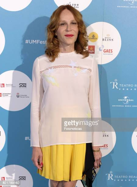Antonia San Juan attends The Pretenders Universal Music Festival concert al The Royal Theater on July 24 2017 in Madrid Spain