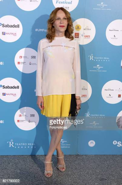 Antonia San Juan attends the The Pretenders Universal Music Festival concert a The Royal Theater on July 24 2017 in Madrid Spain