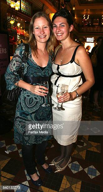 Antonia Sheil left and Olivia Hepworth at An Evening with the Designers at the Strand Arcade Sydney 18 October 2006 SHD Picture by JANIE BARRETT