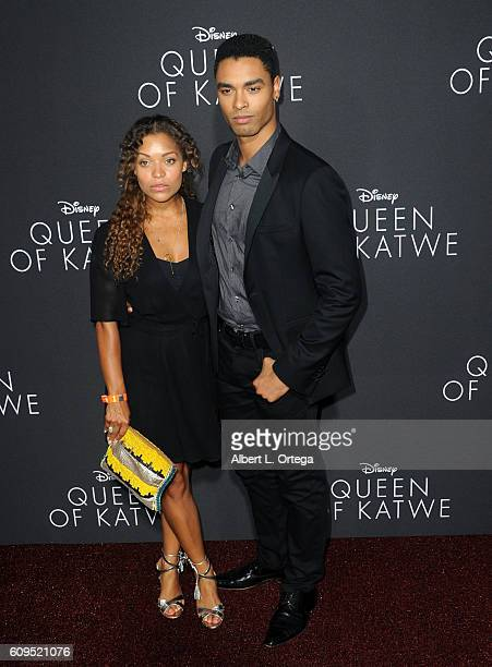 Antonia Thomas and RegeJean Page arrives for the Premiere Of Disney's 'Queen Of Katwe' held at the El Capitan Theatre on September 20 2016 in...