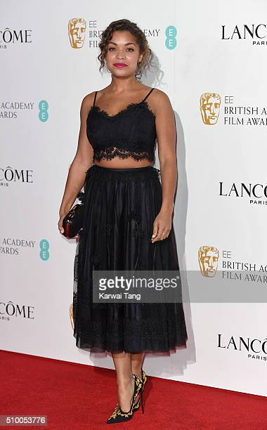 Antonia Thomas attends the Lancome BAFTA nominees party at Kensington Palace on February 13 2016 in London England