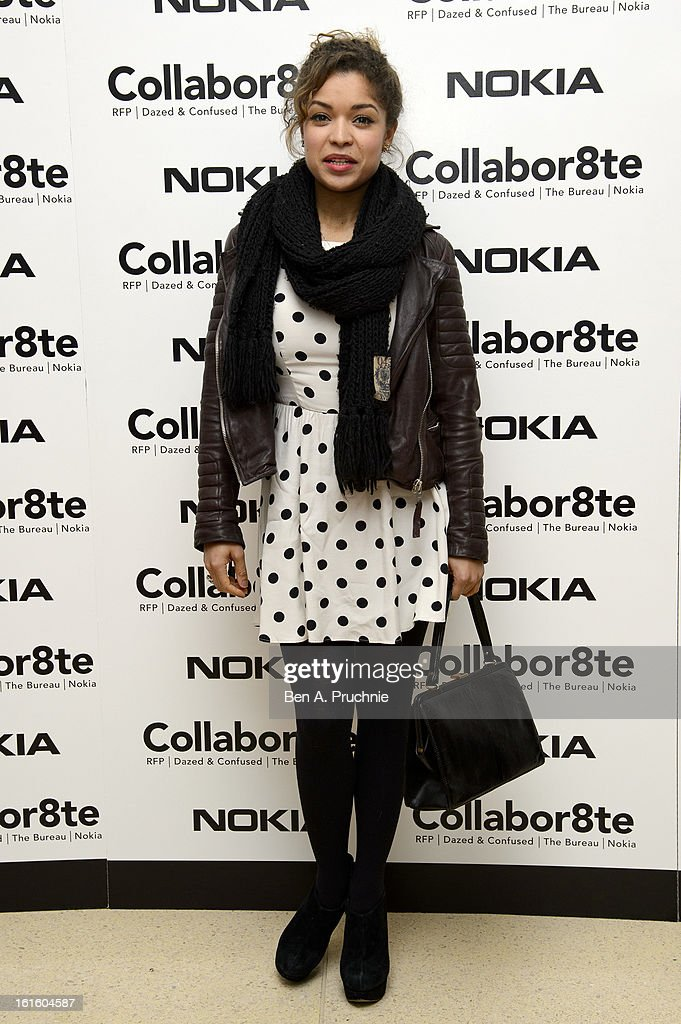 Antonia Thomas attends the premiere of Rankin's Collabor8te connected by NOKIA at Regent Street Cinema on February 12, 2013 in London, England.