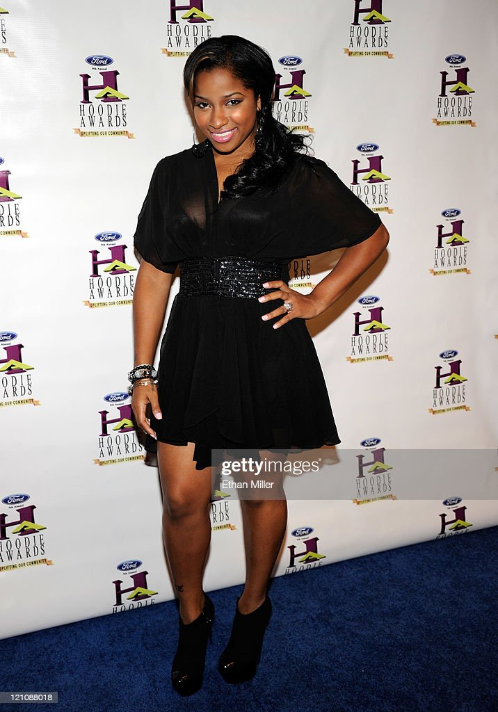 Antonia 'Toya' Carter Wright arrives at the ninth annual Ford Hoodie Awards at the Mandalay Bay Events Center August 13, 2011 in Las Vegas, Nevada.