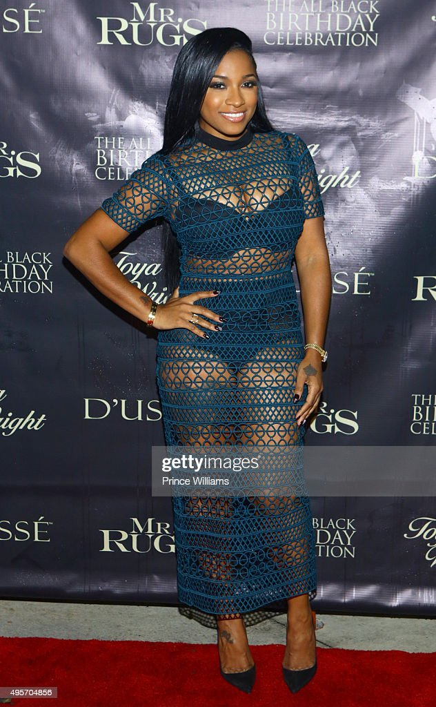 Great Antonia U0027Toyau0027 Wright Attends All Black Affair For Mr Rugs U0026 Toya Wright  Birthday
