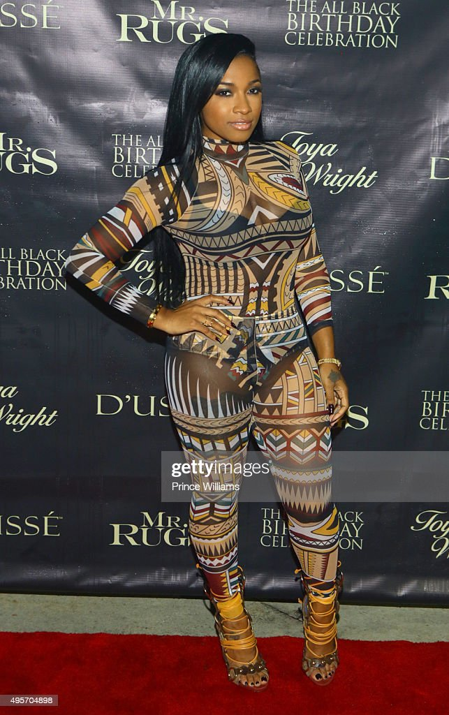 Antonia U0027Toyau0027 Wright Attends All Black Affair For Mr Rugs U0026 Toya Wright  Birthday