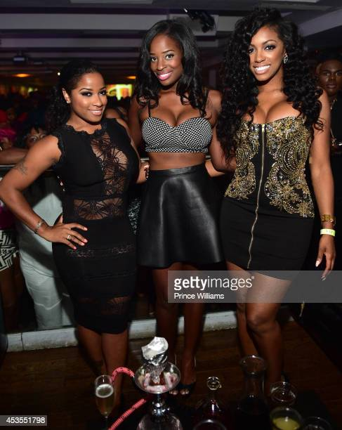 Antonia 'Toya' Wright Shamea Morton and Porsha Williams attend the official Bronner Brothers hair show after party at Compound on August 2 2014 in...
