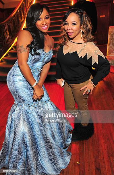Antonia Wright and Tameka 'Tiny' Harris attend Reginae Carter's 13th Birthday party at The Callanwolde Mansion on November 19 2011 in Atlanta Georgia