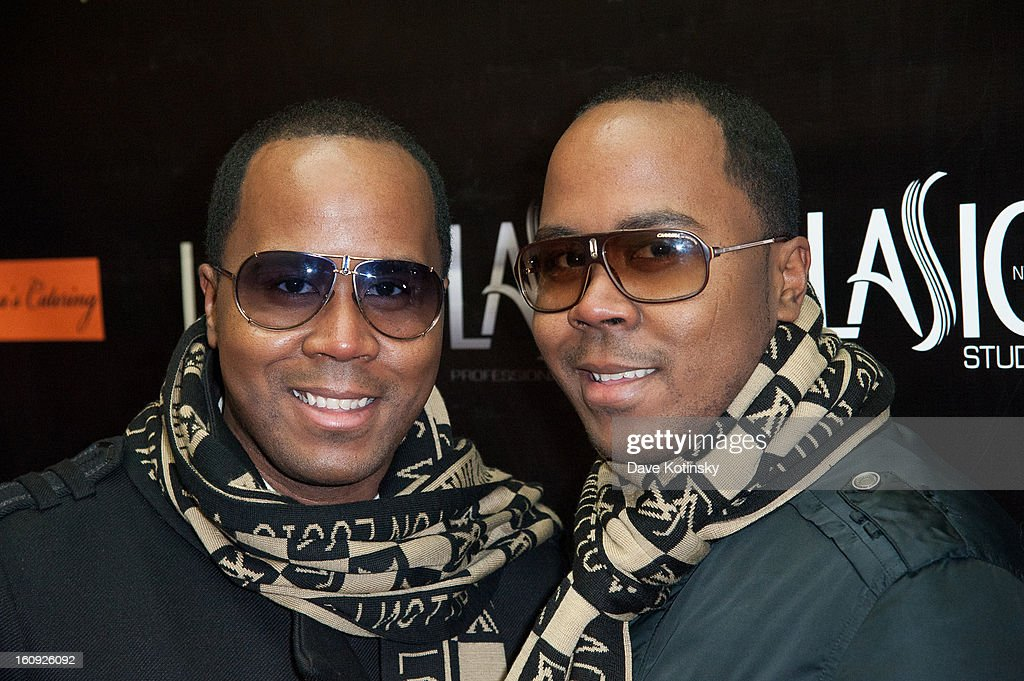 Antonie Von Boozier and Andre Van Boozier attends Lasio Studios Salon Grand Opening at Lasio Studios on February 7, 2013 in New York City.