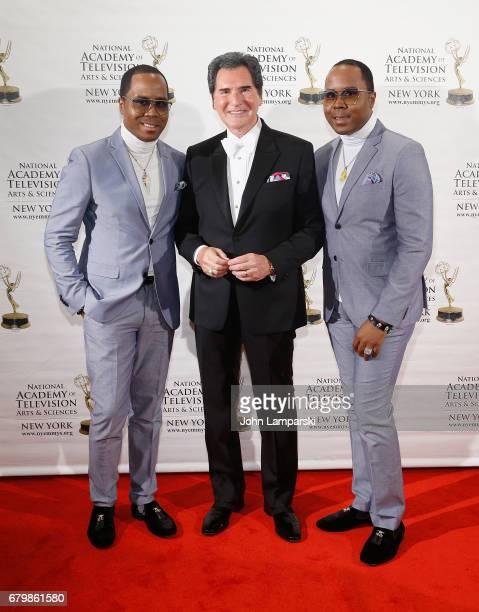 Antonie Von Boozier Ernie Anastos and Andre Von Boozier attend 60th Anniversary New York Emmy Awards Gala at Marriott Marquis Times Square on May 6...