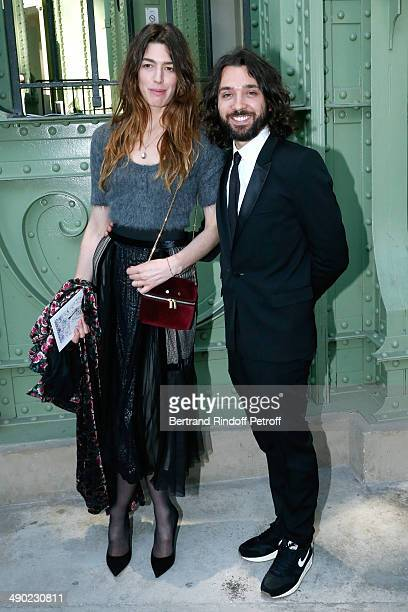 Antonine Peduzzi and Benjamin Cercio attend 'The strange city' Exhibition by Ilya and Emilia Kabakov at Monumenta 2014 Dinner to benefit 'Naked Heart...