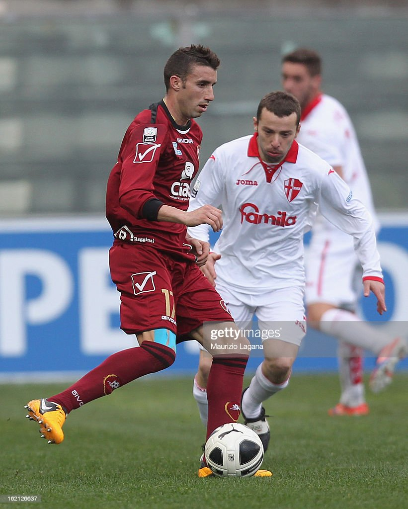 Antonino Barilla of Reggina during the Serie B match between Reggina Calcio and Calcio Padova on February 16, 2013 in Reggio Calabria, Italy.