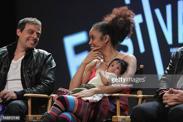 Antonino D'Ambrosio and Staceyann Chin attend Tribeca Talks After the Movie Let Fury Have The Hour during the 2012 Tribeca Film Festival at the...