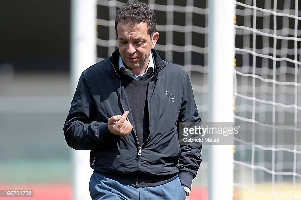Antonino Pulvirenti President of Catania before the Serie A match between AC Chievo Verona and Calcio Catania at Stadio Marc'Antonio Bentegodi on...