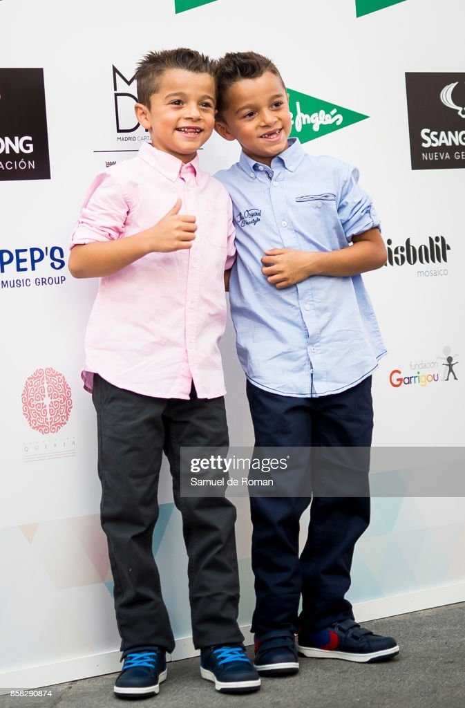 Antonio and Paco twins during 'The Petite Fashion Week' Photocall in Madrid on October 6, 2017 in Madrid, Spain.