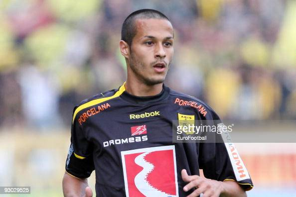 Antonio Arandes Toni Calvo of Aris Salonika during the Super League match between Aris Salonika and AEK Athens held on October 25 2009 at the...