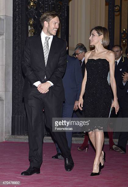 Antonio Asensio and Queen Letizia of Spain attend the 2015 'Woman Awards' Ceremony at the Casino de Madrid on April 20 2015 in Madrid Spain