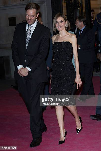 Antonio Asensio and Queen Letizia of Spain attend 'Woman Awards' at 'Casino de Madrid' on April 20 2015 in Madrid Spain