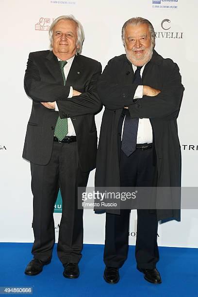 Antonio Avati and Pupi Avati attends a photocall for the 'RAI Cinema 15th Anniversary' at auditorium Della Conciliazione on October 29 2015 in Rome...