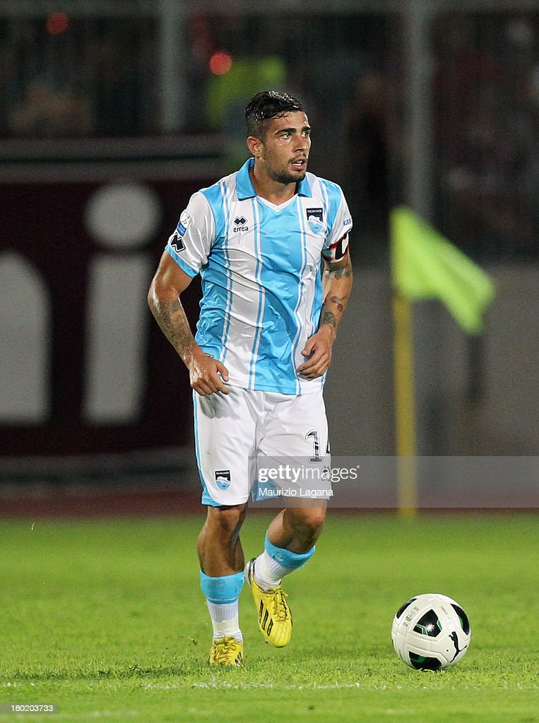Antonio Balzano of Pescara during the Serie B match between Trapani Calcio and Pescara Calcio at Stadio Provinciale on September 2, 2013 in Trapani, Italy.