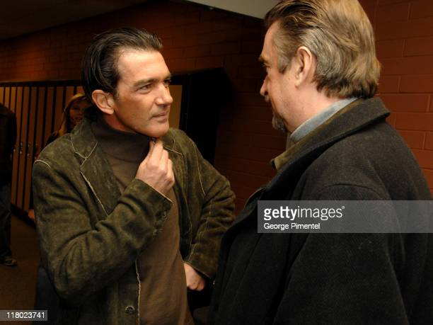 Antonio Banderas and Geoffrey Gilmore during 2007 Sundance Film Festival 'Summer Rain' Premiere at Eccles in Park City Utah United States