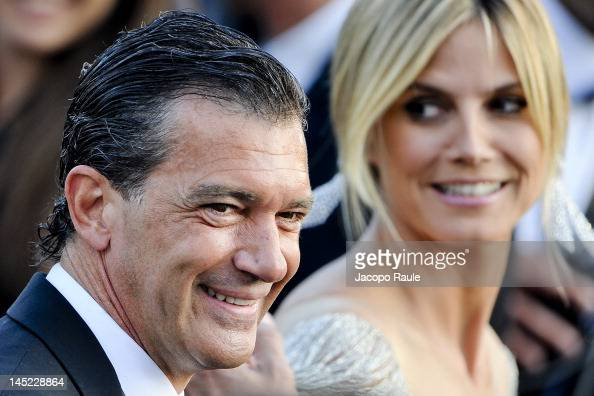 Antonio Banderas and Heidi Klum attend the 'The Paperboy' premiere during the 65th Annual Cannes Film Festival at Palais des Festivals on May 24 2012...