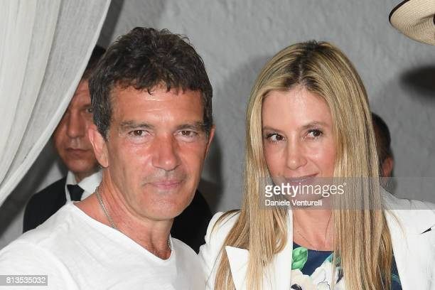 Antonio Banderas and Mira Sorvino attend 2017 Ischia Global Film Music Fest on July 12 2017 in Ischia Italy