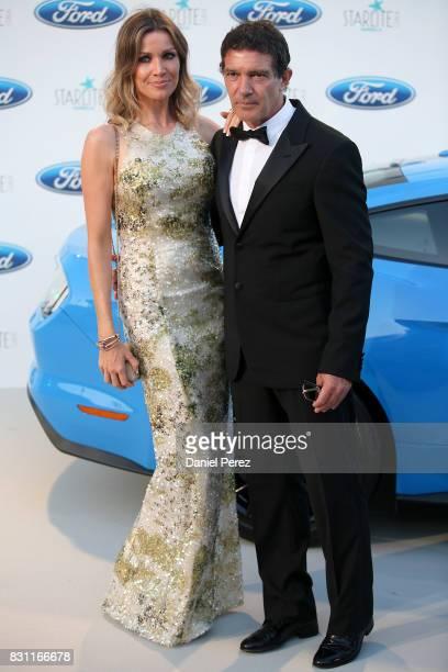 Antonio Banderas and Nicole Kimpel attend Starlite Gala on August 13 2017 in Marbella Spain