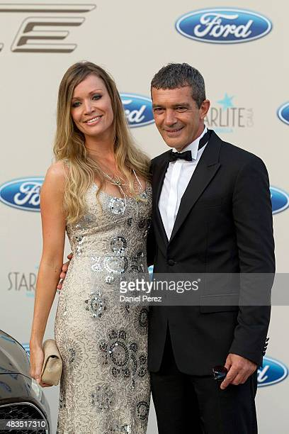 Antonio Banderas and Nicole Kimpel attend Starlite Gala on August 9 2015 in Marbella Spain