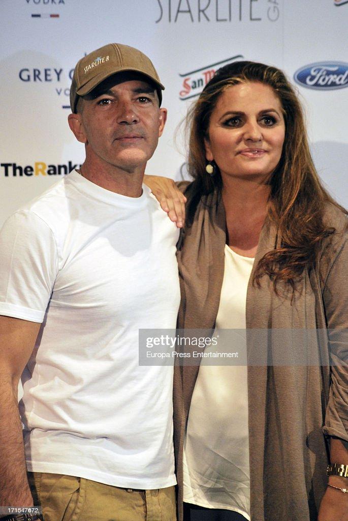 Antonio Banderas and Sandra Garcia-Sanjuan present 'Starlite Gala' 2013 on June 25, 2013 in Madrid, Spain.