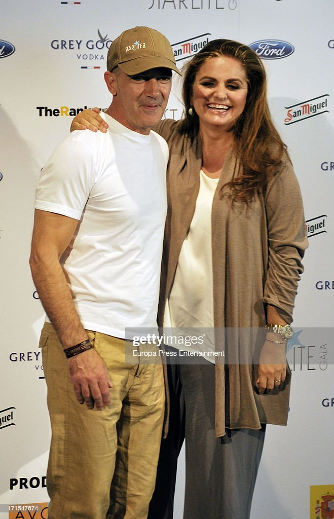 Antonio Banderas and Sandra Garcia-Sanjuan present 'Starlite Gala' 2013 on June 25, 2013 in Madrid, Spain.