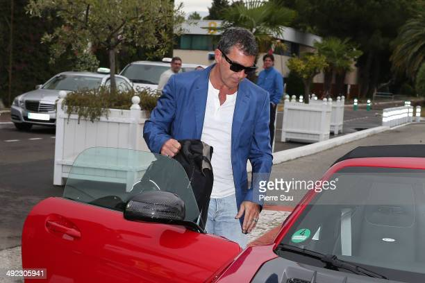 Antonio Banderas arrives at cannes airport on day 5 of the 67th Annual Cannes Film Festival on May 19 2014 in Cannes France