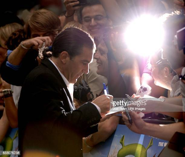 Antonio Banderas arrives for the UK Premiere of Shrek The Third at the Odeon Cinema in Leicester Square central London
