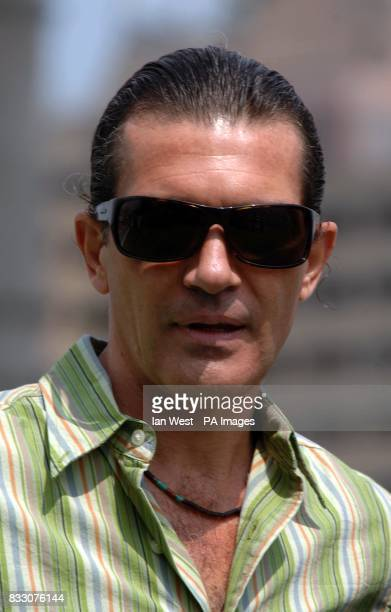 Antonio Banderas at a photocall for new film Shrek The Third at Tower Bridge in central London