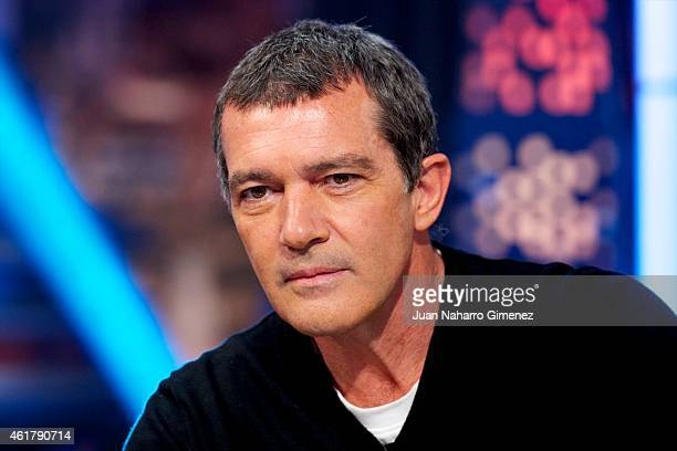 Antonio Banderas attends 'El Hormiguero' Tv show at Vertice Studio on January 19 2015 in Madrid Spain