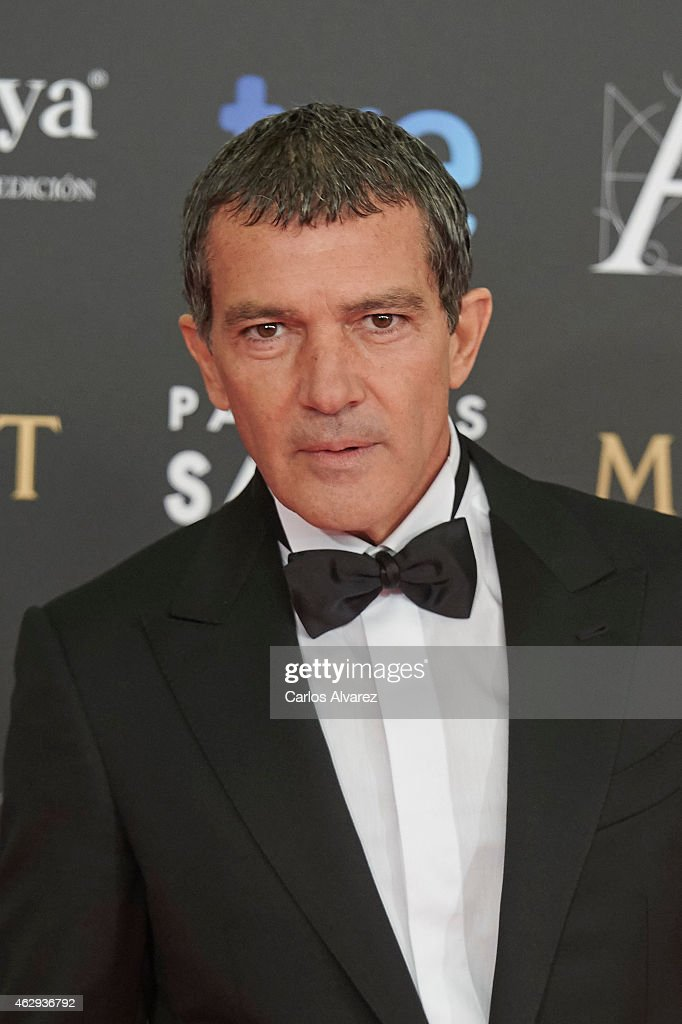 <a gi-track='captionPersonalityLinkClicked' href=/galleries/search?phrase=Antonio+Banderas&family=editorial&specificpeople=171176 ng-click='$event.stopPropagation()'>Antonio Banderas</a> attends Goya Cinema Awards 2014 at Centro de Congresos Principe Felipe on February 7, 2015 in Madrid, Spain.