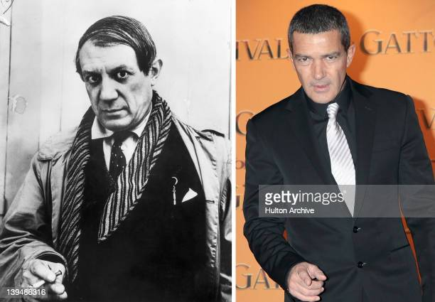 In this composite image a comparison has been made between Pablo Picasso and actor Antonio Banderas Banderas will reportedly play Pablo Picasso in an...