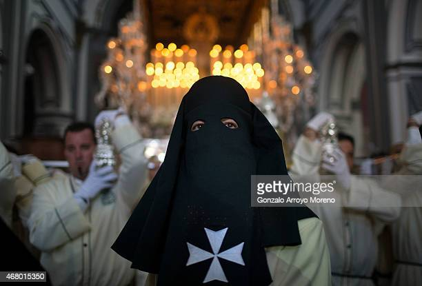Antonio Banderas attends the Maria Santisima de Lagrimas y Favores procession during Holy Week celebrations on March 29 2015 in Malaga Spain